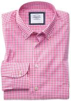 Classic Fit Button-down Business Casual Non-iron Pink Cotton Formal Shirt Single Cuff Size 15/33
