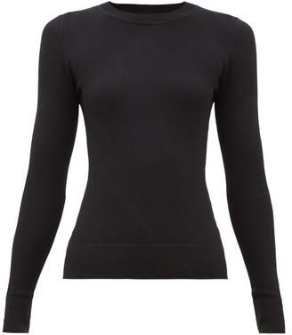 JoosTricot Peachskin Round-neck Cotton-blend Sweater - Womens - Black