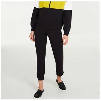 Joe Fresh Women's Stretch Crepe Pants, JF Black (Size XL)