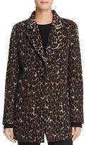 Tahari Kendall Leopard Print Coat