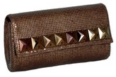 Whiting & Davis Swarovski Square Flap Clutch.