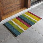 "Crate & Barrel Chilewich ® Multi Thick Striped 20""x36"" Doormat"