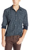 Calvin Klein Jeans Men's Micro Floral Button Down Shirt