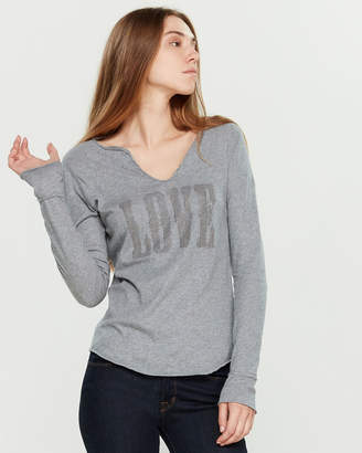 Zadig & Voltaire Studded Love Long Sleeve Tee