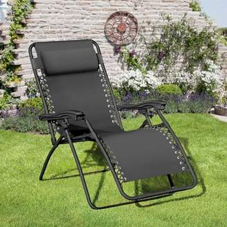 Zero Gravity Ellendale Reclining Chair with Cushion Latitude Run Color: Black