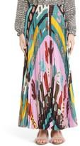 Valentino Garavani Women's Valentino Counting Print Plisse Crepe De Chine Midi Skirt