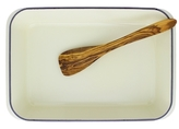 French Enameled Roaster Dish and Spatula Cookware Set (2 PC)