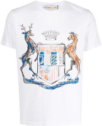 Etro emblem-print crew neck T-Shirt