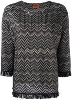 Missoni patterned jumper - women - Viscose/Wool - 40