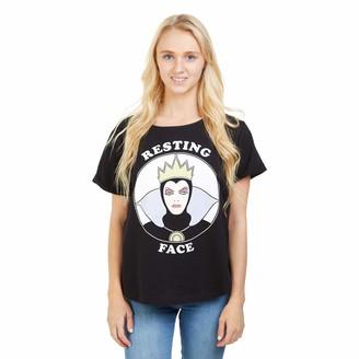 Disney Women's Resting Witch FACE T - Shirt