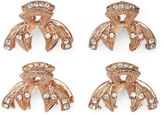 Elle ELLETM 4-pk. Rhinestone Jaw Bow Hair Clip Set