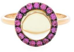 Rosa De La Cruz - Quartz, Sapphire & 18kt Rose-gold Ring - Pink Multi