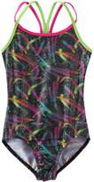 Jacques Moret Girls 4-14 Swirl Racerback Leotard