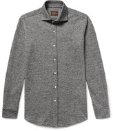 Tod's - Slim-fit Puppytooth Virgin Wool And Cotton-blend Shirt
