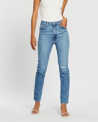 J Brand Runway High-Rise Slim Straight Jeans
