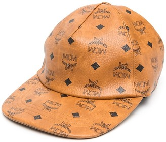 MCM Print Leather-Look Cap