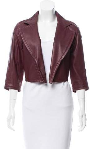 Yigal Azrouel Crop Leather Jacket