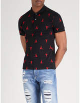 Alexander Mcqueen Skeleton Cotton-piqué Polo Shirt