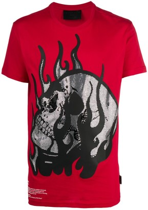 Philipp Plein round neck Skull embellished T-shirt