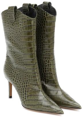 Alexandre Vauthier Wayne croc-effect leather ankle boots