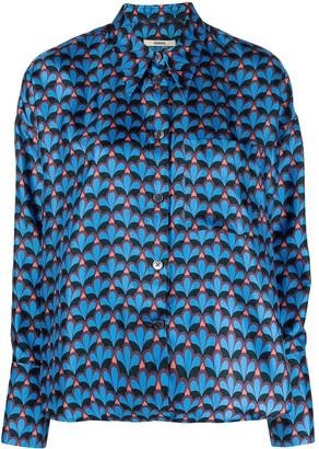 Odeeh Silk Abstract-Print Shirt