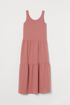 H&M Ankle-length Jersey Dress - Pink