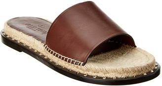 Valentino Leather Slide Sandal