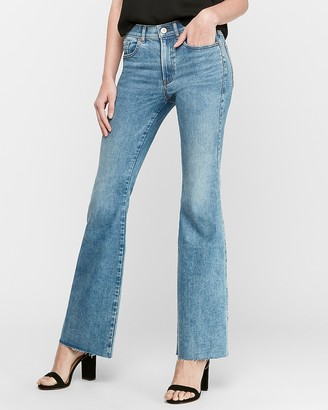 Express High Waisted Hyper Stretch Slim Flare Jeans