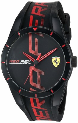 Ferrari Men's Quartz Watch with Silicone Strap