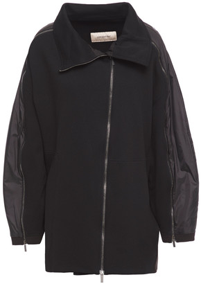 Gentry Portofino Gentryportofino Monogram-trimmed Shell And Cotton-fleece Jacket