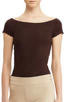 Lauren Ralph Lauren Off-The-Shoulder Cotton-Blend Tee