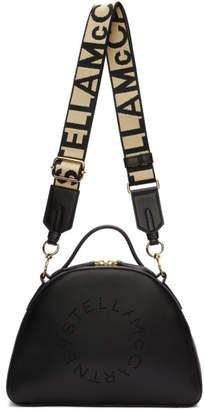 Stella McCartney Black Medium Eco Soft Logo Shoulder Bag