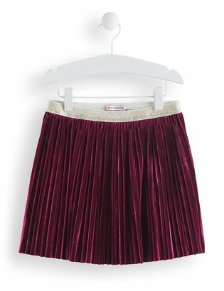 Amazon Brand - RED WAGON Girl's Pleated Velvet Skirt