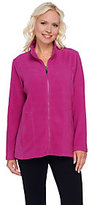Denim & Co. As Is Active Zip Front Fleece Jacket with Seaming Detail