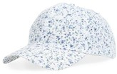 BP Women's Ditsy Floral Print Baseball Cap - White