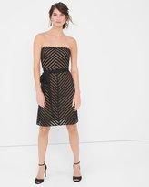White House Black Market Strapless Shadow Stripe Dress