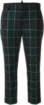 DSQUARED2 checked trousers - women - Polyamide/Wool - 38