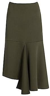 Marni Women's Cotton Jersey Asymetrical Midi Skirt