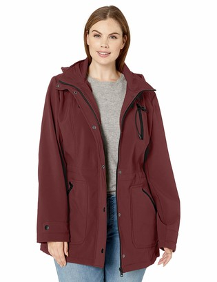 Big Chill Women's Anorak Jacket with Hood and Wing Collar