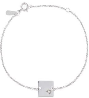 Adina Sterling Silver Diamond Bracelet