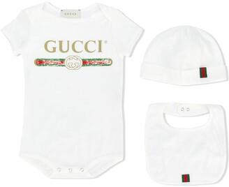 Gucci Kids Three-Piece Pajama Set