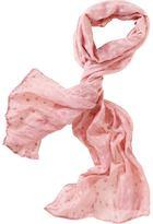 Intarsia dot scarf