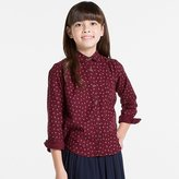 Uniqlo Girls Flannel Printed Long Sleeve Shirt