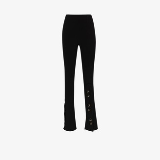 A.W.A.K.E. Mode High Waist Buttoned Skinny Trousers