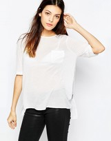 French Connection Polly Plains Zip Top In White