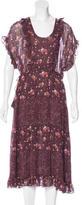Ulla Johnson Silk Floral Print Dress w/ Tags