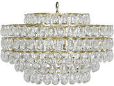 Noir Linden Crystal Chandelier - Brass/Clear