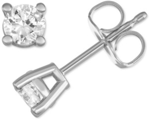 Forever Grown Diamonds Lab Created Diamond Stud Earrings (1/2 ct. t.w.) in Sterling Silver