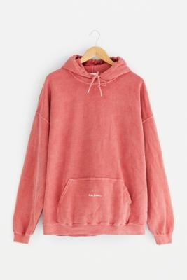 iets frans... Men's Overdyed Raspberry Hoodie - Purple XS at Urban Outfitters