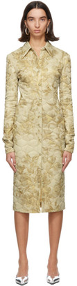 Kwaidan Editions Beige Quilted Shirt Dress